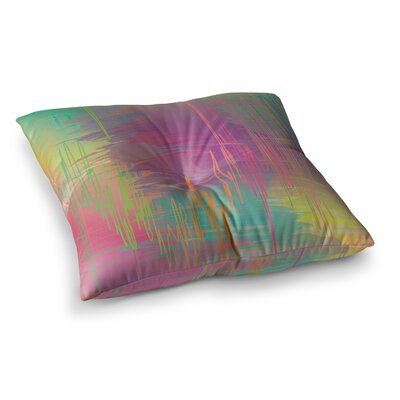 Rainbow Storm by Graphic Tabby Floor Pillow Size: 23 x 23