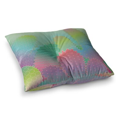 Colorful Cacti Garden Nature by Graphic Tabby Floor Pillow Size: 23 x 23