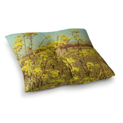 Spring Breeze Photography by Graphic Tabby Floor Pillow Size: 26 x 26
