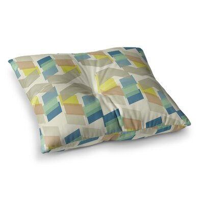 Kobob Chevron Geometric by Gukuuki Floor Pillow Size: 26 x 26