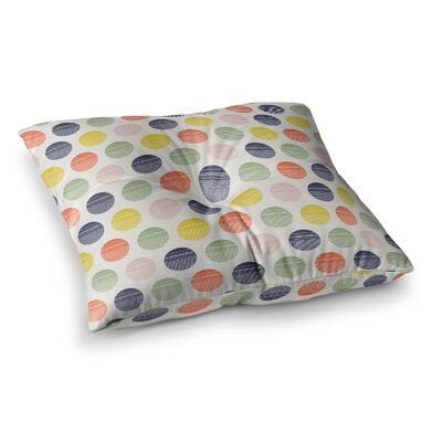 Rainbow Dots Vector by Gukuuki Floor Pillow Size: 26 x 26