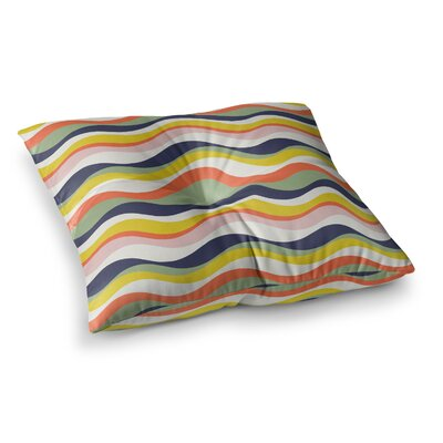 Rainbow Stripes by Gukuuki Floor Pillow Size: 23 x 23