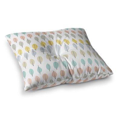Simple Leaves Nature by Gukuuki Floor Pillow Size: 23 x 23