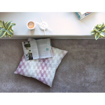 Stripe Palms by Gukuuki Floor Pillow Size: 26 x 26