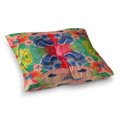 Spring Time by Gukuuki Floor Pillow Size: 26 x 26