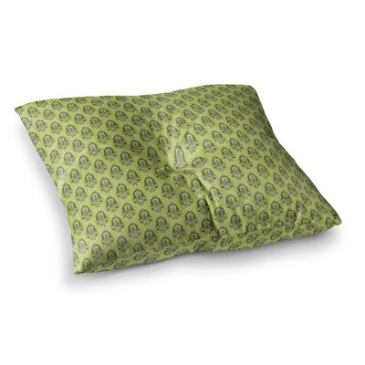 Deco Flourish by Holly Helgeson Floor Pillow Size: 26 x 26