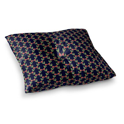 Midnight Vine Pattern by Holly Helgeson Floor Pillow Size: 26 x 26