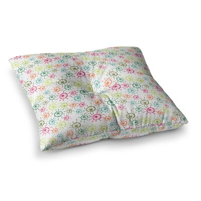 Mod Flower Burst by Holly Helgeson Floor Pillow Size: 23 x 23