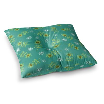 Ditsy Daisy by Holly Helgeson Floor Pillow Size: 23 x 23