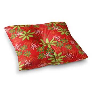 Daisy Mae Floral by Holly Helgeson Floor Pillow Size: 23 x 23