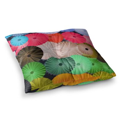 Parasol Paper Circle by Heidi Jennings Floor Pillow Size: 26 x 26