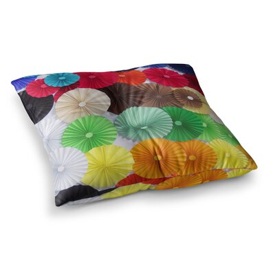 Adored Colored Circles by Heidi Jennings Floor Pillow Size: 23 x 23