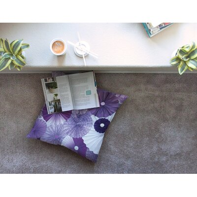 Lavender Wishes by Heidi Jennings Floor Pillow Size: 23 x 23