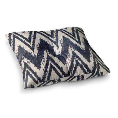 Tribal Chevron by Heidi Jennings Floor Pillow Size: 26 x 26, Color: Black