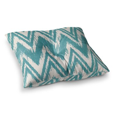 Tribal Chevron by Heidi Jennings Floor Pillow Size: 23 x 23, Color: Aqua