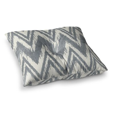 Tribal Chevron by Heidi Jennings Floor Pillow Size: 26 x 26, Color: Gray