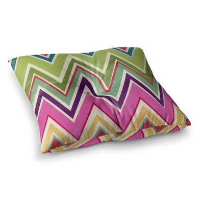 Clash of Color Chevron by Heidi Jennings Floor Pillow Size: 23 x 23