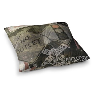City Outing Urban Signs by Heidi Jennings Floor Pillow Size: 26 x 26