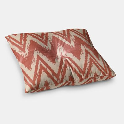 Tribal Chevron by Heidi Jennings Floor Pillow Size: 23 x 23, Color: Red/Maroon/Tan