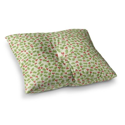 Oh Holly Night by Heidi Jennings Floor Pillow Size: 23 x 23