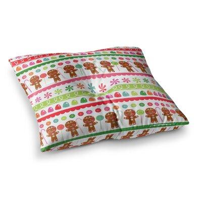 Gumdrop Buttons Gingerbread by Heidi Jennings Floor Pillow Size: 26 x 26