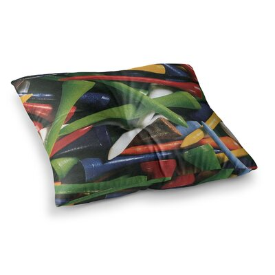 Teed Off by Heidi Jennings Floor Pillow Size: 26 x 26