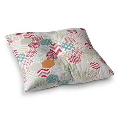 Geo Pastel Geometric by Heidi Jennings Floor Pillow Size: 26 x 26
