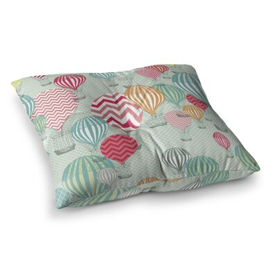Hot Air Baloons by Heidi Jennings Floor Pillow Size: 23 x 23