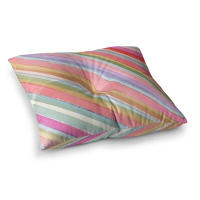 Pastel Stripes by Heidi Jennings Floor Pillow Size: 26 x 26