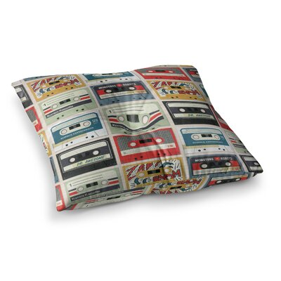 Retro Tape by Heidi Jennings Floor Pillow Size: 26 x 26