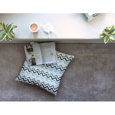 Chevron by Heidi Jennings Floor Pillow Size: 26 x 26