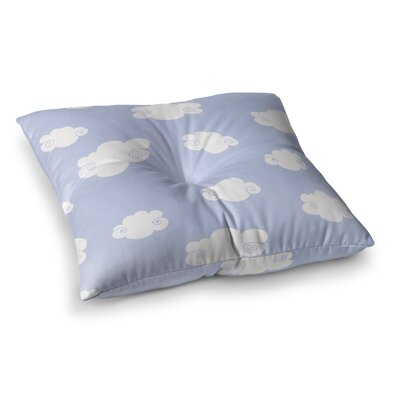 Happy Clouds by Heidi Jennings Floor Pillow Size: 26 x 26