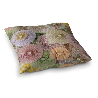 Spring Pastels Abstract by Heidi Jennings Floor Pillow Size: 26 x 26