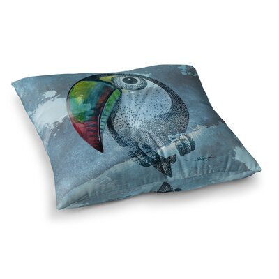 Tucan Pastel by Ivan Joh Floor Pillow Size: 23 x 23