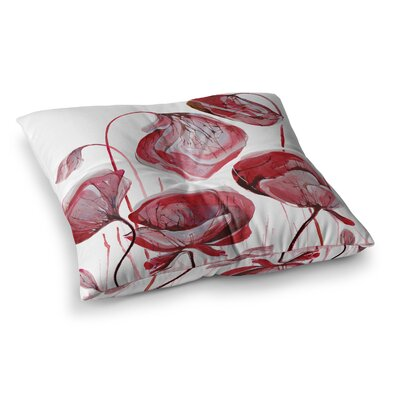 Poppies by Ivan Joh Floor Pillow Size: 26 x 26