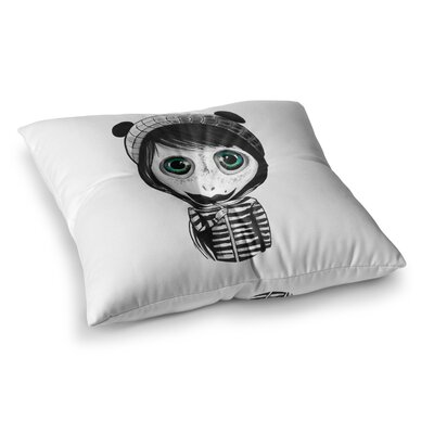 Cute Mustache by Ivan Joh Floor Pillow Size: 26 x 26
