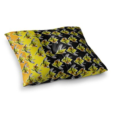 Bananas Painting by Ivan Joh Floor Pillow Size: 26 x 26