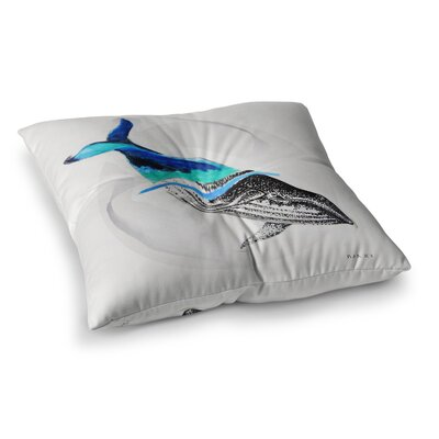 Whale Illustration by Ivan Joh Floor Pillow Size: 26 x 26
