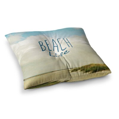 Beach Life Beach by Iris Lehnhardt Floor Pillow Size: 23 x 23