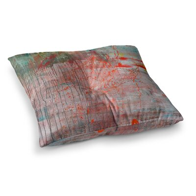 Copper and Pale Flower by Iris Lehnhardt Floor Pillow Size: 26 x 26