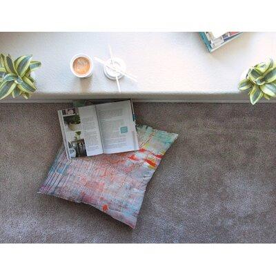 Mots de La Terre Splatter by Iris Lehnhardt Floor Pillow Size: 26 x 26
