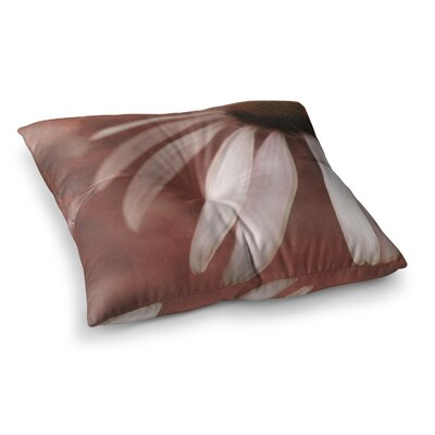 Copper and Pale Flower by Iris Lehnhardt Floor Pillow Size: 23 x 23