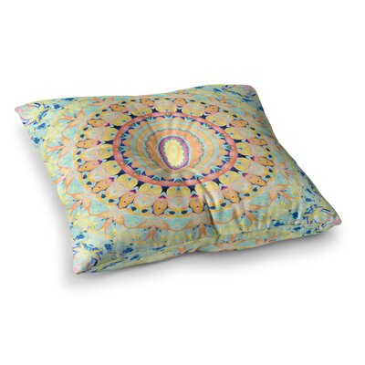 Flourish Circle by Iris Lehnhardt Floor Pillow Size: 26 x 26