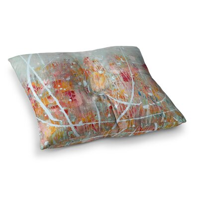 Joy Splatter by Iris Lehnhardt Floor Pillow Size: 23 x 23