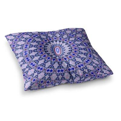 Kaleidoscope by Iris Lehnhardt Floor Pillow Size: 26 x 26, Color: Blue