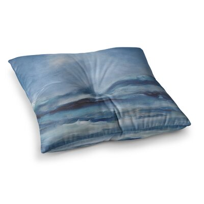 Rough Sea Ocean by Iris Lehnhardt Floor Pillow Size: 23 x 23