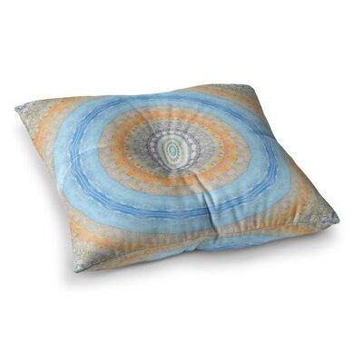 Summer Mandala Circle by Iris Lehnhardt Floor Pillow Size: 26 x 26