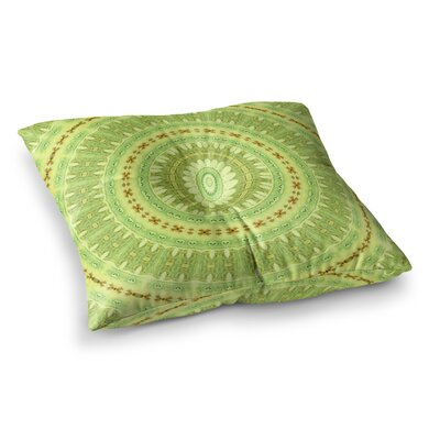 Wheel of Spring Circle by Iris Lehnhardt Floor Pillow Size: 26 x 26