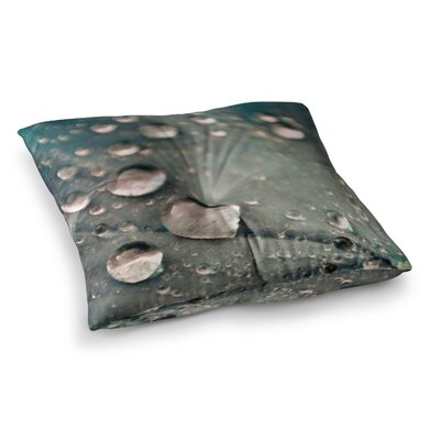 Water Droplets by Iris Lehnhardt Floor Pillow Size: 26 x 26, Color: Dark Gray