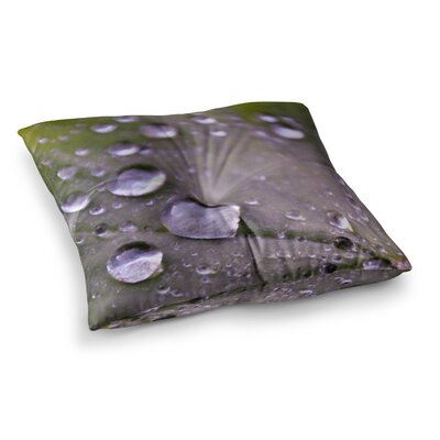 Water Droplets by Iris Lehnhardt Floor Pillow Size: 23 x 23, Color: Teal/Blue